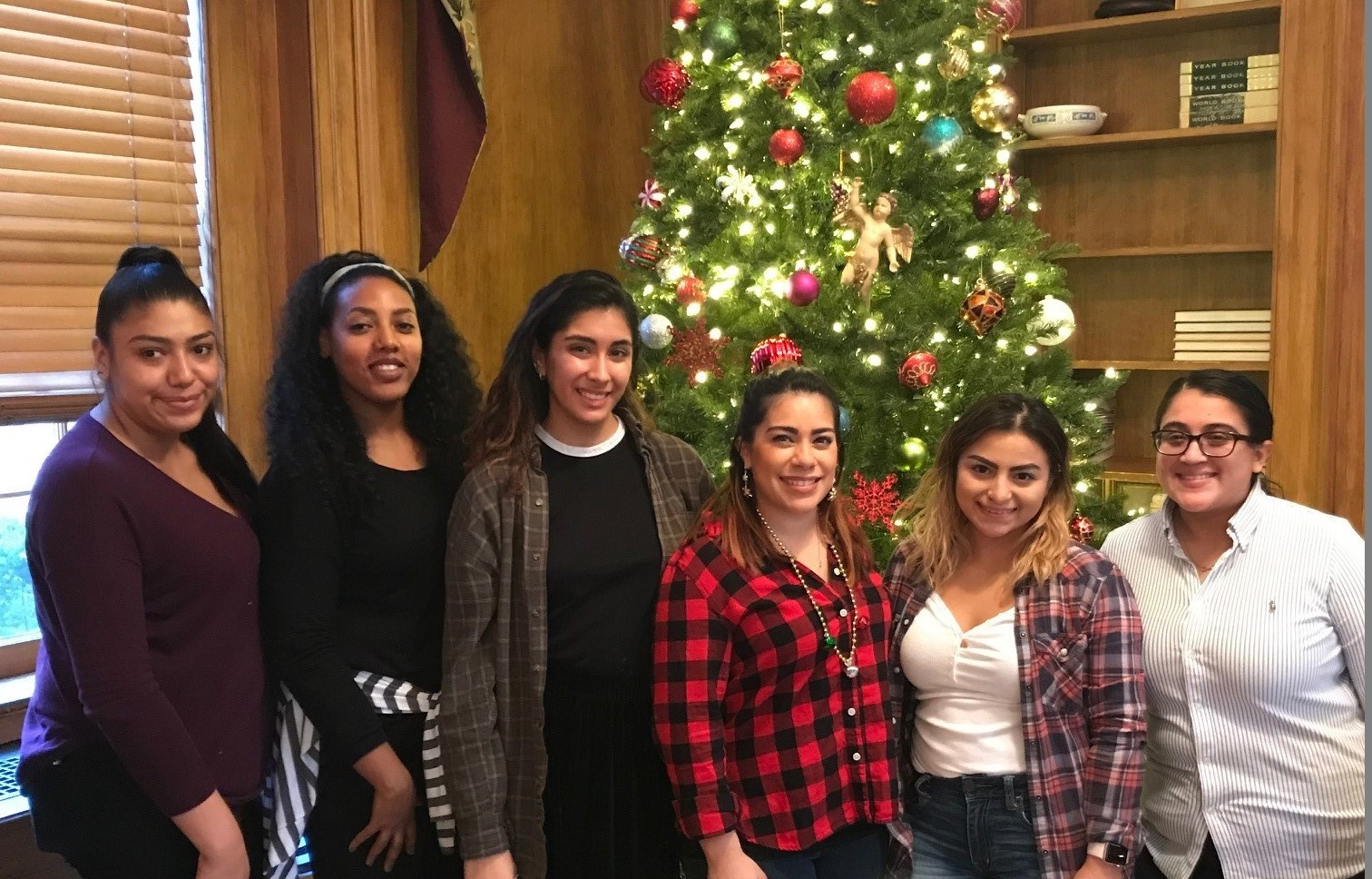 Shady Grove Social Work Students Decorate Lisner-Louise-Dickson Tree
